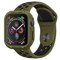 Чехол Spigen для Apple Watch 5/4 (44mm) Rugged Armor, Olive Green (062CS26015)