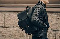 Рюкзак кожаный мужской  Калифорния черного цвета