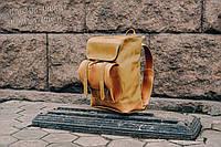 Рюкзак кожаный Калифорния карамельного цвета