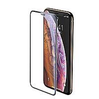 Защитное стекло 5D King Kong для iPhone 11 Pro / XS / X с защитной сеткой на динамик, Black