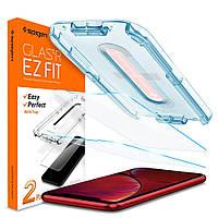 Защитное стекло Spigen для iPhone 11/ XR EZ FIT GLAS.tR Screen Protector (2 шт), Clear (064GL25166)