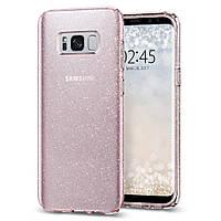 Чохол Spigen для Samsung S8 Plus Liquid Crystal Glitter, Rose Quartz (571CS21667)