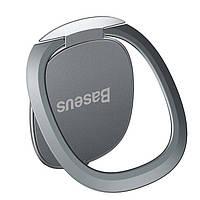 Кольцо-держатель Baseus для смартфона Invisible phone ring holder, Silver (SUYB-0S)