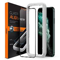 Захисне скло Spigen для iPhone 11 / XR Glas.tR AlignMaster (1шт) Black (AGL00106)