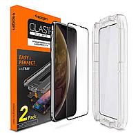 """Защитное стекло Spigen для iPhone XR (6.1"""") EZ FIT, 2шт. (064GL25168)"""