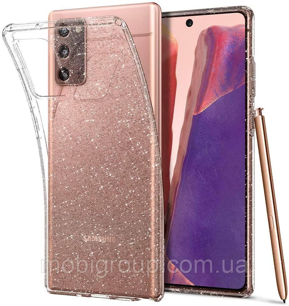 Чохол Spigen для Samsung Galaxy Note 20 - Liquid Crystal Glitter - Crystal Quartz (ACS01416)