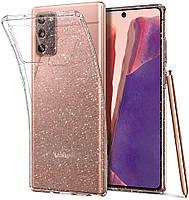 Чехол Spigen для Samsung Galaxy Note 20 - Liquid Crystal Glitter - Crystal Quartz (ACS01416)