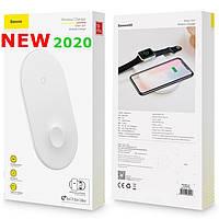 Беспроводное зарядное устройство Baseus Smart 2in1 Llightning, White (WX2IN1-B02)
