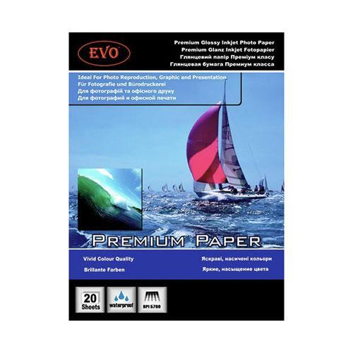 Глянцевая фотобумага EVO Premium RC 260гр А6 20 листов