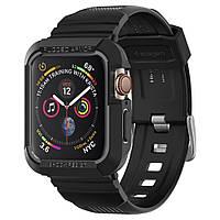 Чохол і ремінець Spigen для Apple Watch SE/6/5/4 (44mm) Rugged Armor Pro 2 in 1, Black (062CS25324), фото 1