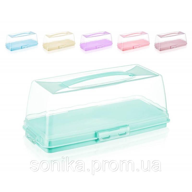 Тортівниця прямокутна пластикова Dunya 30309