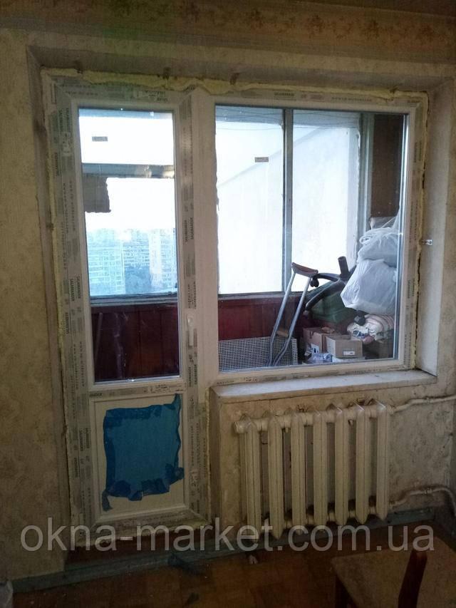 Балконний блок Salamander Київ пр. Оболонський 11 фото Вікна Маркет