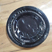 Тарелки бумажные 18см 5-62461 черные