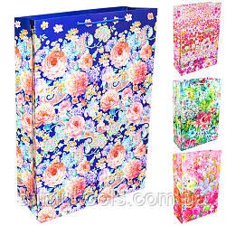 """Пакет подарунковий паперовий Stenson M """"Flowers"""" 25*9*37 см(12 штук в упаковці)"""