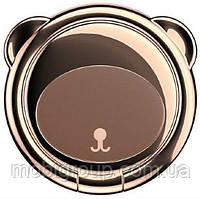 Кольцо-держатель Baseus для смартфона Bear Finger Metal Ring, Brown (SUBR-08)