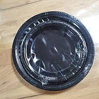 Тарелки бумажные 23см 5-62539 черные