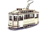 Игрушка из дерева Трамвай SANOK SW 1 со Львова 3D пазлы, конструктор для детей и взрослых