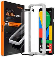 Защитное стекло Spigen для Google Pixel 4 (2019) Glas.tR AlignMaster, Black (AGL00482)