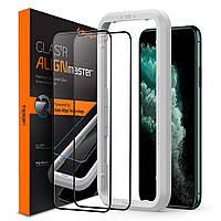 Защитное стекло Spigen для iPhone XS Max Glas.tR AlignMaster (2 шт) Black (AGL00479)