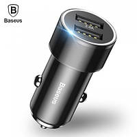 АЗУ Baseus Small Crew Dual-USB Quick Charge 3.4A, Black (CAXLD-C01)