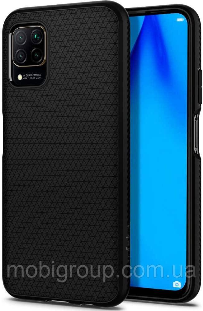Чехол Spigen для Huawei P40 Lite (Nova 6 SE) Liquid Air, Matte Black (ACS00972)