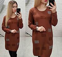 Женское кашемировое платье-туника оверсайз, фото 1