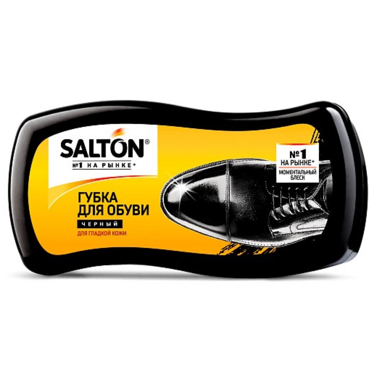 Губка пропитка SALTON для обуви из гладкой кожи, чёрная