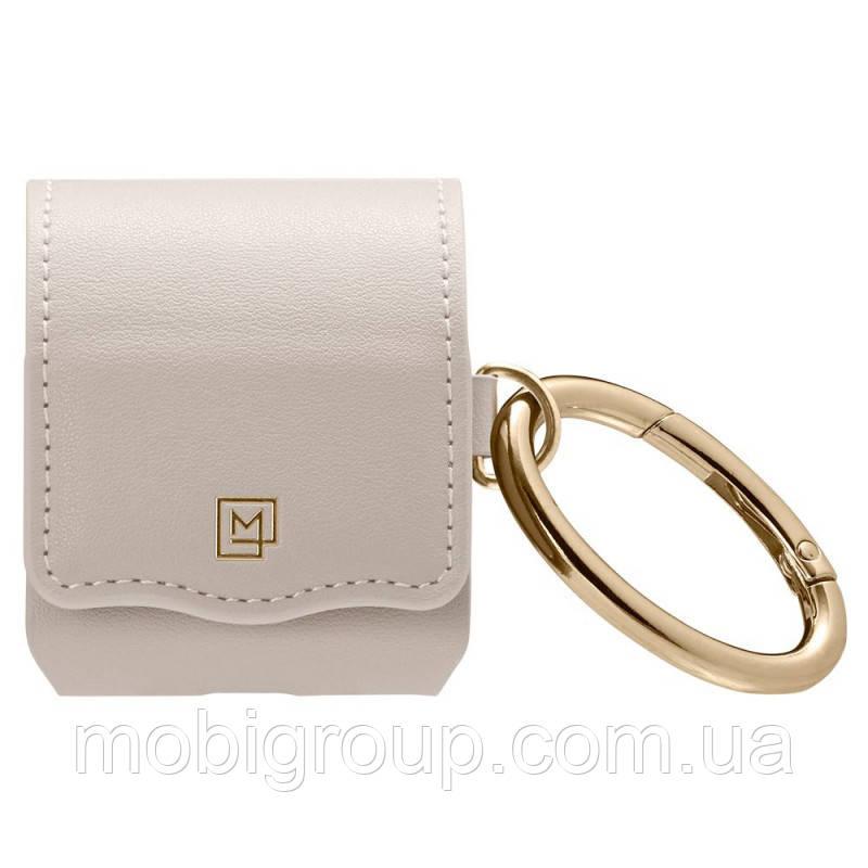 Чехол Spigen для наушников Apple AirPods La Manon Leather, Pale Pink (074CS26377)