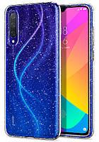 Чехол Spigen для Xiaomi Mi 9 Lite - Liquid Crystal Glitter - Crystal Quartz (S52CS26402)