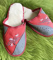 Красные апочки кожаные женские