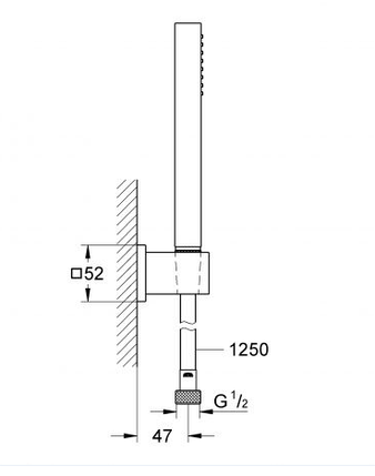 Grohe Euphoria Cube Stick Душовий набір, 1 режим струменю (27703000), фото 2