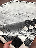 Модный молодежный ковер из бананового волокна шахматная доска, фото 2