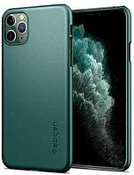 Чехол Spigen Thin Fit для iPhone 11 Pro Max, Midnight Green (ACS00410)