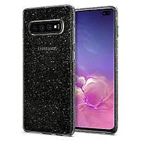Чехол Spigen для Samsung Galaxy S10 Plus Liquid Crystal Glitter, Crystal Quartz (606CS25762)