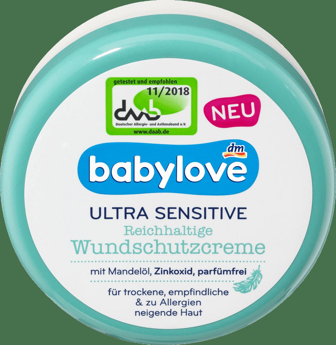 Детский защитный крем Babylove Ultra Sensitive Wundschutzcreme, 150 мл.
