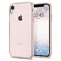 Чехол Spigen для iPhone XR Liquid Crystal Glitter Rose (064CS24868)