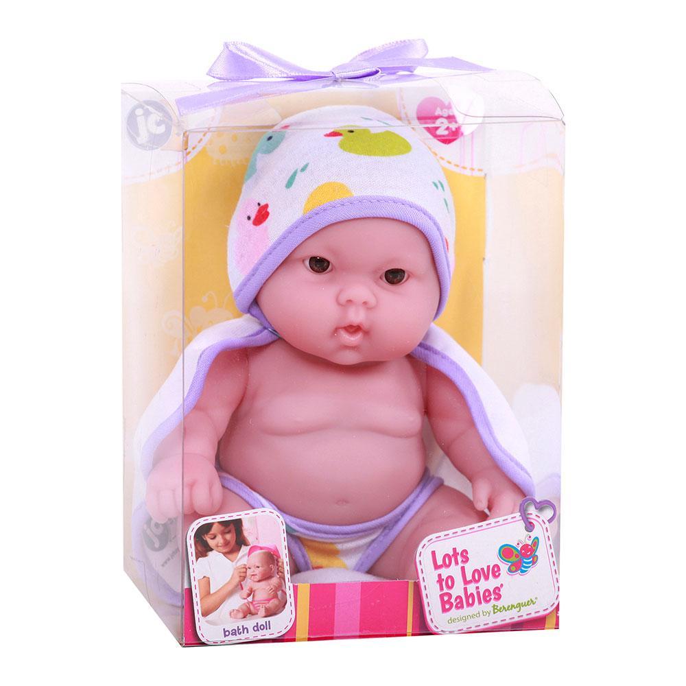 Пупс JC Toys Лулу с фиолетовым полотенцем 20 см
