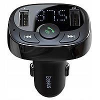 АЗУ с FM-трансмиттером Baseus T typed S-09A Bluetooth MP3, Black (CCTM-01)