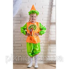 Детский карнавальный костюм Морковка для детей 4,5,6,7 лет Овощи Морковь Морква мальчику девочке 340, фото 2