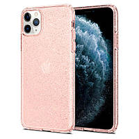 Чехол Spigen для iPhone 11 Pro Max Liquid Crystal Glitter, Rose Quartz (075CS27132)