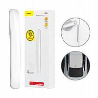 Защитная накладка для автомобильных дверей Baseus Streamlined Car Door Bumper - Белые (CRFZT-02)