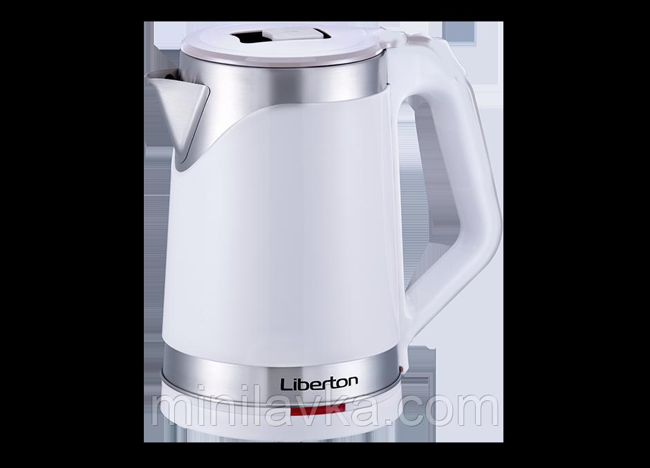 Електрочайник Liberton LEK-2201 White 2.2 л. 1500 Вт.