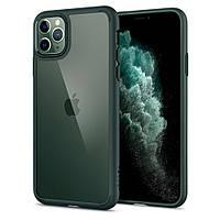 Чехол Spigen для iPhone 11 Pro Max Ultra Hybrid, Midnight Green (ACS00411)