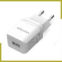 Сетевое зарядное устройство адаптер Vention 2,1A - 10,5W / зарядка для телефона