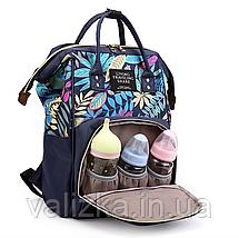 Сумка-рюкзак для мам синий, женский, городской, органайзер, фото 3