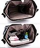 Сумка-рюкзак для мам синий, женский, городской, органайзер, фото 4