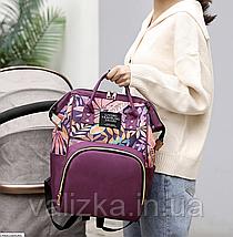 Сумка-рюкзак для мам синий, женский, городской, органайзер, фото 2