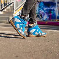 Женские ботинки,сникерсы ЗАМШ, фото 1