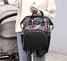 Женский рюкзак черный с термо карманами, фото 2