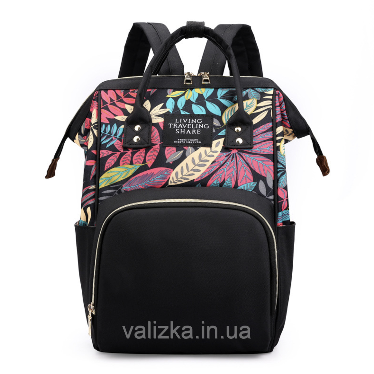 Женский рюкзак черный с термо карманами
